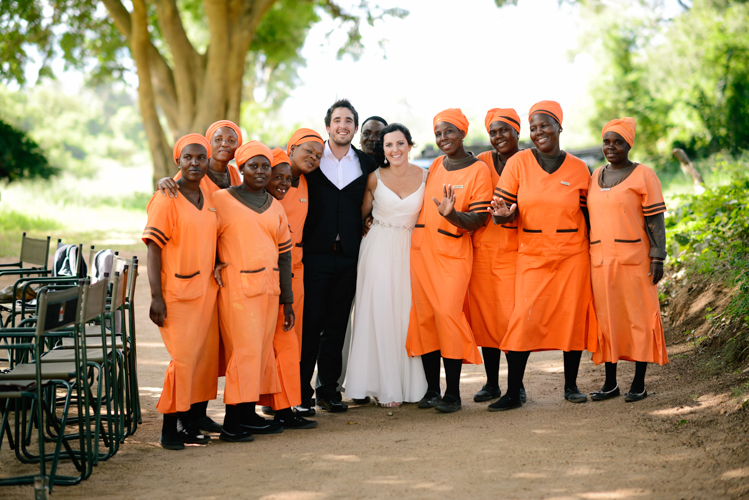 African wedding choir